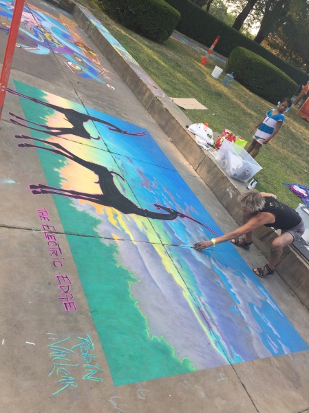 Robin VanLear at Cleveland Museum of Art Chalk Festival 2017