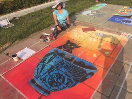 Jan Stickney-Kleber at Cleveland Museum of Art Chalk Festival
